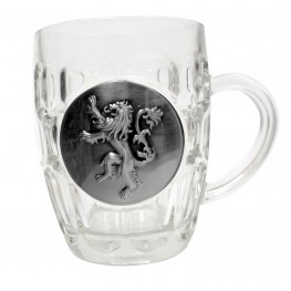 Game of thrones: Lannister Crystal Stein with metallic logo