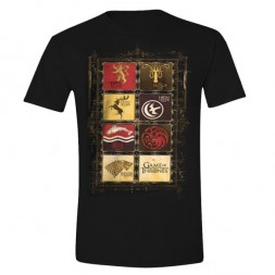 Game Of Thrones Family Sigil Black T-Shirt