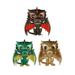 Game of Thrones POP! Vinyl Figures 3-Pack Drogon, Rhaegal & Viserion Metallic 9 cm