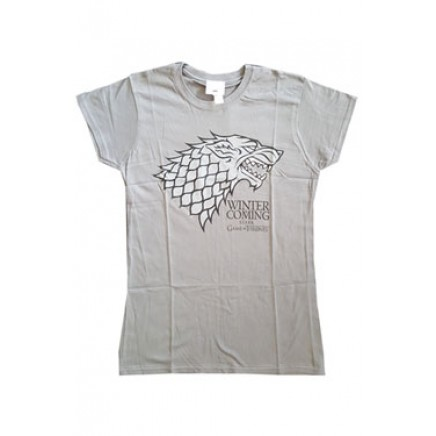 Game Of Thrones Ladies T-Shirt Stark Charcoal