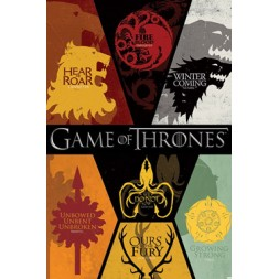 Game Of Thrones Poster Pack Sigils 61 x 91 cm (5)