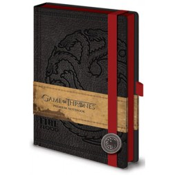 Game of Thrones Premium Notebook A5 Targaryen