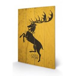 Game of Thrones Wooden Wall Art Baratheon 40 x 60 cm