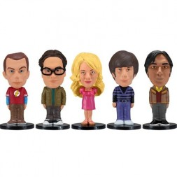The Big bang theory set of 5 mini Bobble-heads