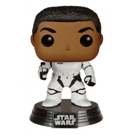Star Wars Episode VII POP! Vinyl Bobble-Head Stormtrooper Finn With Blaster 9 cm